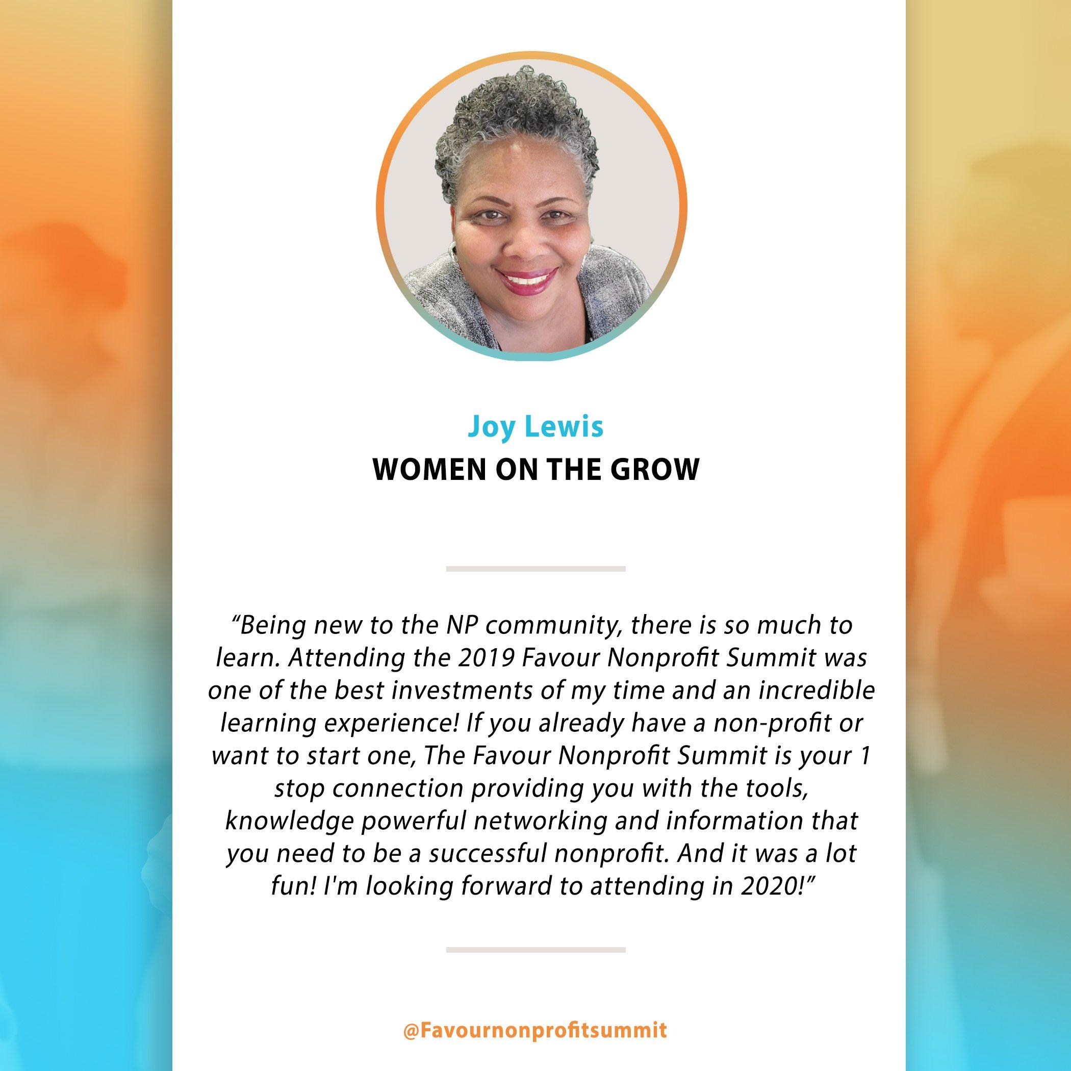 Joy Lewis - Testimonial