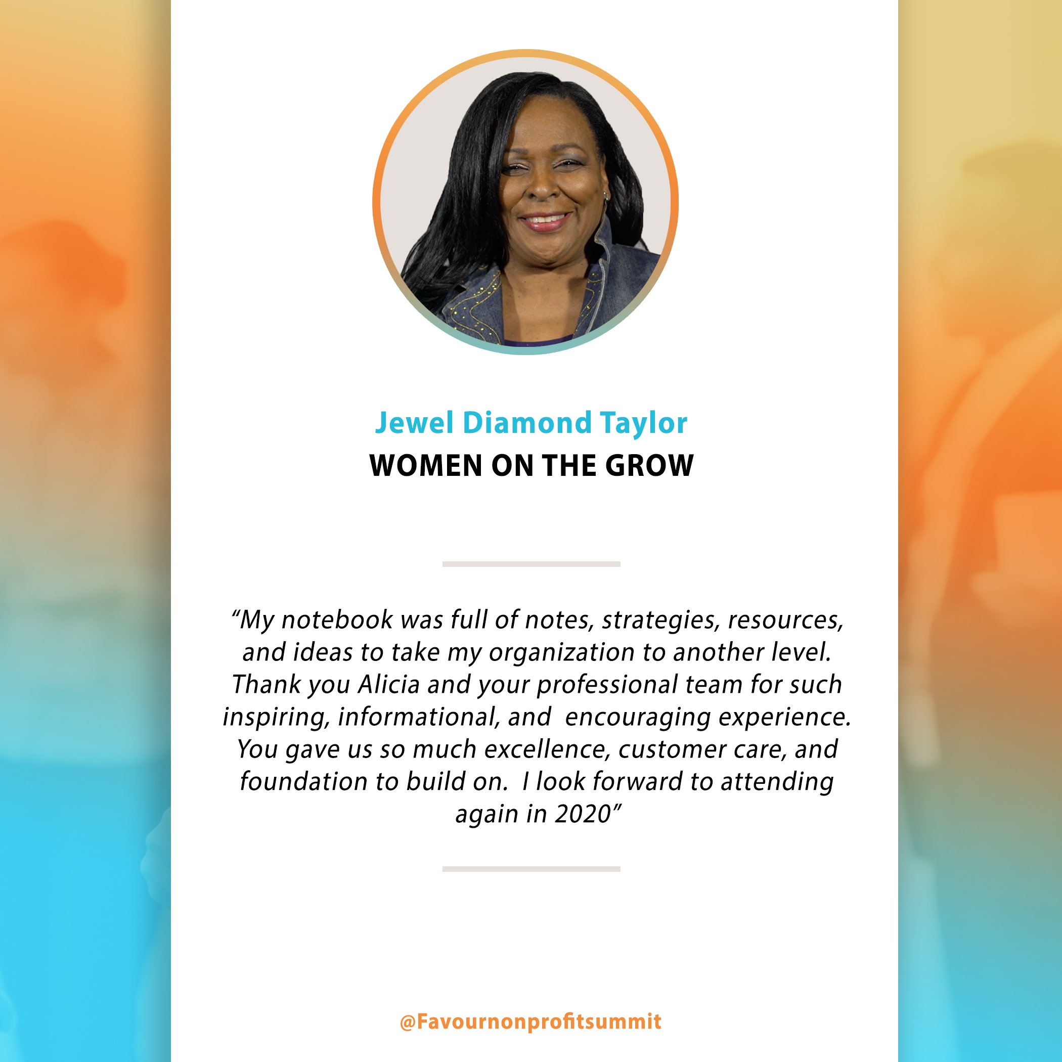 Jewel Diamond Taylor - Testimonial